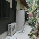 エクステリア・リフォーム工事 小倉南区H様邸 エコキュート設置工事(コンクリート台作製とも)工事完了