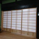 小倉南区S様邸 玄関・ホール・和室リフォーム工事完了⑥(3枚引違格子戸 杉材+アクリル材仕様)
