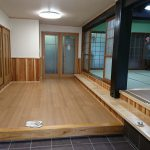 小倉南区S様邸 玄関・ホール・和室リフォーム工事完了①(玄関ホール嵩上げフローリング張り)